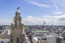Liverpool as seen from the top of the Liver building