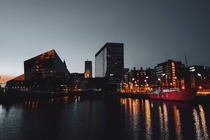 Liverpool UK during dusk