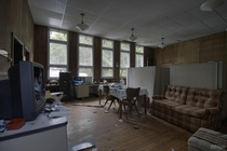 Living Quarters of an Abandoned Research Facility Filled with Creepy Specimens