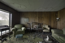 Living Room Inside an Abandoned amp Decayed Time Capsule House in Rural Ontario