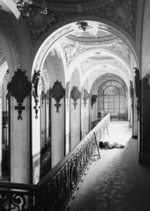 Lobby of the Singer Building Manhattan not long before it was demolished in  after becoming economically nonviable and disused