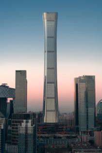 Located at the core of Beijings new -hectare central business district CITIC Towers design draws inspiration from the zun a ritual vessel originating in Bronze Age China