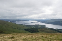 Loch Lomond from the summit of Ben Lomond Scotland
