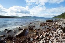 Loch Ness Scotland on a clear summers day