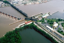 Lock and Dam No  on the Mississippi River