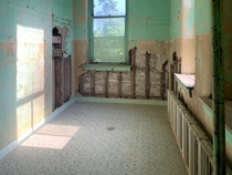 locker room of an abandoned school in ohio