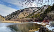 Logan Utah USA  Uinta-Wasatch-Cache National Forest  Logan Canyon  Second Dam Area  March