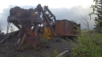 Logging machinery near Coldwater Peak abandoned after the  eruption of Mt St Helens