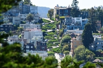 Lombard St in San Francisco California