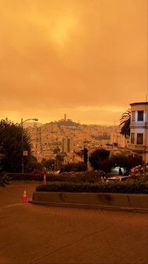 Lombard Street San Francisco California Taken during the current wildfires