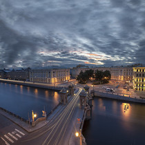 Lomonosov Bridge Saint Petersburg Russia