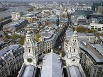 London from the top of Saint Pauls Cathedral