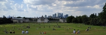 London UK from Greenwich Park