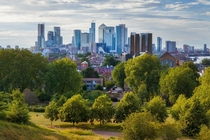 London Vista from Greenwich Park by Jacek Pilarski