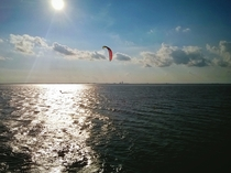 Lone windsurfer in Mobile Bay   OC