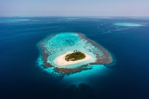 Lonely Atoll in the Maldives