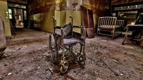 Lonely wheelchair at Forest Haven Asylum in Laurel MD