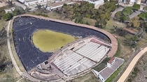 Lonestar Beer Factory employee pool and artificial pond in San Antonio Texas