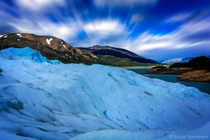 Long exposure at Perito Moreno glacier Patagonia Argentina