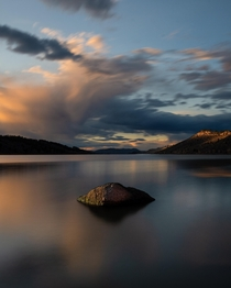 Long Exposure of Horsetooth Reservoir in Fort Collins Colorado