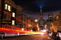 Long-exposure of nighttime in San Francisco  by Kenji Yamamura
