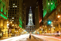 Long exposure of Philadelphia City Hall  by Joscelyn Paine