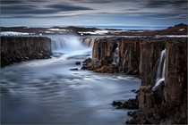 Long Exposure of Selfoss Waterfalls Iceland