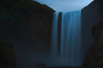 Long Exposure of Skgafoss in Iceland foss  waterfall in Icelandic