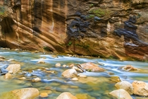 Long Exposure of The Narrows in Zion National Park by Thomas Dawson