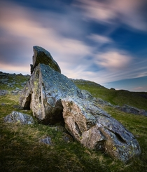 Long Exposure of the Norber Erratics Yorkshire Dales England