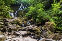 Long exposure of Torc Waterfall on the Ring of Kerry Ireland