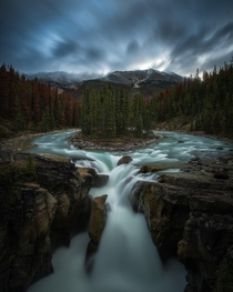 Long exposure on a stormy day in Jasper National Park