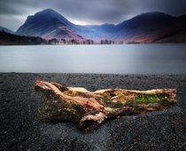 Long exposure on the shores of Buttermere Lake District England