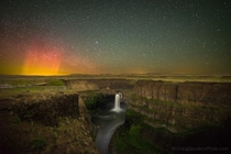 Long exposure- Palouse Falls Aurora WA  by Craig Goodwin