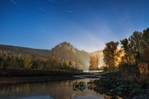 Long exposure photo of Muradym valley Russia