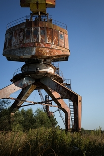 Long motionless crane near Pripyat  by BOST