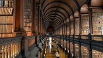 Long Room at the Old Library Trinity College in Dublin Ireland