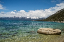 Looking across Lake Tahoe Nevada USA