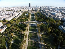 Looking along the Champs de Mars Paris