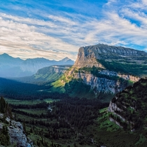 Looking at the beautiful mountain at Glacier National Park Montana  IG GiorgioSuighi