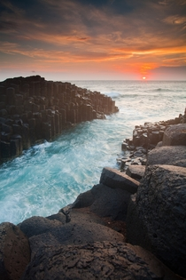 Looking back at the sunrise from Fingal Head NSW Australia  Photograph by James McGregor