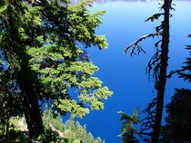 Looking down at Crater Lake OR  x