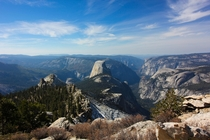 Looking down at Half Dome from Clouds Rest OC