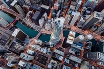 Looking Down Chicago -