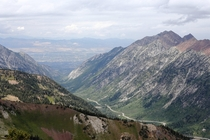 Looking down Little Cottonwood Canyon from the top of Mt Baldy