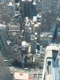 Looking down on New York City from Top of the Rock