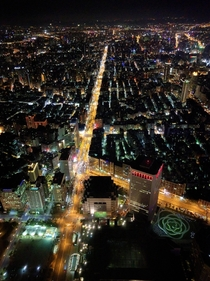 Looking down on Taipei from Taipei  formerly the tallest building in the world