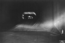Looking down the throat of NACAs  x  foot wind tunnel at Ames Aeronautical Laboratory Moffett Field California which when it was built was the worlds largest