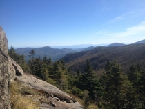 Looking east near the summit of Cascade Mountain Adirondacks NY