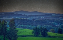 Looking into the bavarian forest lower bavaria OC  x  HDR